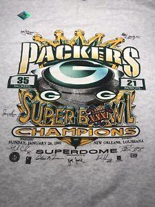 Vintage 1997 NFL Green Bay Packers SB XXXI Champ XL Sweatshirt New Brett Favre