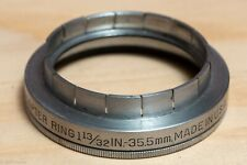 "Kodak 35.5mm ( 1-13/32"") slip-on adapter to Series VI (6) w/ retaining ring"
