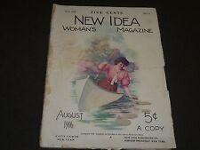 1906 AUGUST NEW IDEA WOMAN'S MAGAZINE - COLOR FASHION - ILLUSTRATIONS - ST 252