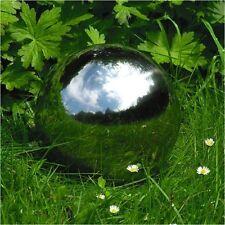 Boule décorative 20cm en acier inoxydable Déco d'étang de jardin étang