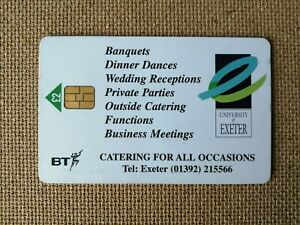 Exeter University BT Phonecard PRO070B - In Need Of A Good Home !