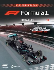 BIG 1:24 MERCEDES-AMG F1 W11 Lewis Hamilton 2020 +MAGAZINE blister no MINICHAMPS