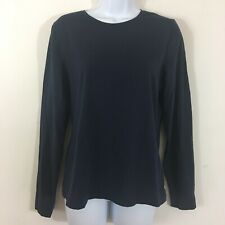 a752eff7 H & M Womens Top Sz L Navy Blue Casual Crew Neck Long Sleeve New QA18