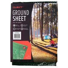 200cm x 100cm Green Heavy Duty Ground Sheet Tarpaulin Camping 8 Eyelets