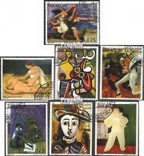 Paraguay 3436-3442 (kompl.Ausgabe) gestempelt 1981 100. Geburtstag Pablo Picasso