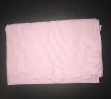 Lauren Ralph Lauren University Oxford Stripe Pink White TWIN FLAT SHEET Fabric