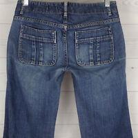 GAP Limited Edition Women's Sz 2 Stretch Low Rise Medium Wash Flare Denim Jeans