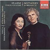 Brahms: Violin Concerto, Op. 77; Beethoven: Symphony No. 5 (Rattle) (CD 2001)