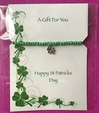 New Lucky Four Leaf Clover Charm Bracelet, Stretch ~ Gift Idea St Patricks day
