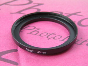 37mm to 43mm 37-43 Stepping Step Up Filter Ring Adapter 37mm-43mm
