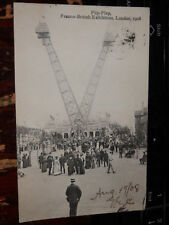 LONDON FRANCO-BRITISH EXHIBITION - 1908 POSTCARD - FLIP-FLAP CRAZY CARNIVAL RIDE