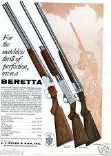 1962 Print Ad of JL Galef & Son Beretta Silver Snipe Golden Pigeon & Silver Hawk
