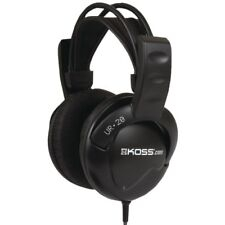 Stereo Headphones Wired Koss UR 20 Flexible Over The Ear With 8' Long Cord Black