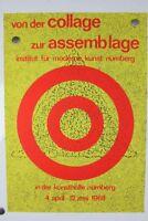 Ausstellung Von der Collage zur Assemblage Moderne Kunst Nürnberg 1968 Plakat