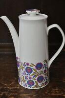 ELIZABETHAN Beautiful Retro Pattern 'Fleur Bleue' Coffee Pot - 24cm Tall