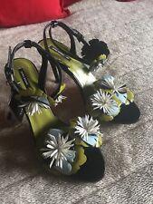 Zara Lack Stilettos Gr 40 Mit 3 D Blumen Top Blogger Trend Party Feier Disko