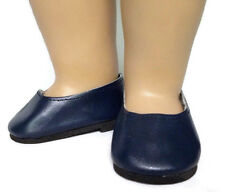 "Navy Slip On Dress Shoes made for 18"" American Girl Doll Clothes"