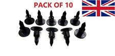 10 RENAULT CARS Black Plastic Rivet Style Body Push in Trim Panel Fastener Clips