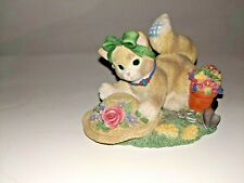 Enesco Calico Kittens The Earth Blossoms for You Kitty Cat Gardening Flowers