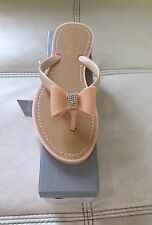 Brand New boxed Ladies Nude Jelly Sandals With diamanté bow size 3