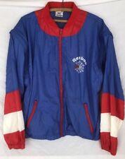 Vintage 90's Reebok Windbreaker Light Jacket/Vest Size Large Blue/Red/White Zip