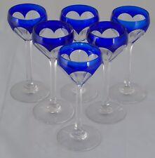 Saint Louis - Service de 6 verres en cristal doublé taillé.
