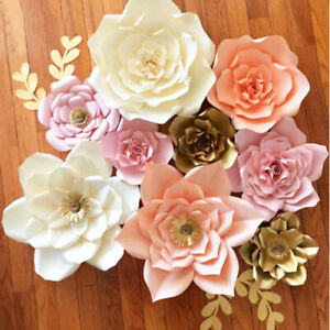 20/30cm DIY Paper Flowers Leave Backdrop Decor Kid Birthday Party Wedding Favor