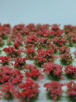 Self Adhesive Static Grass Tufts for Miniature Scenery -Red Wildflowers- 4mm