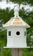 White Enchantment Bird House by Home Bazaar