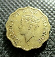 OLD COIN OF UK - BRITISH INDIA 1 ANNA 1944 WORLD WAR II GEORGE VI KING EMPEROR