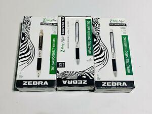 Lot of 36 Zebra Pen Z-Grip Flight Retractable Ballpoint Pens Blue 12 ct per pack