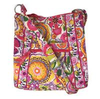 VERA BRADLEY Hipster Crossbody Shoulder Bag In Clementine Pink Orange Retired!