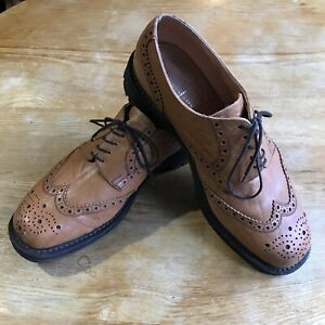 Hoggs Of Fife Gents Brown Brogue Shoes (Itshide Commando Style)Size 9.5