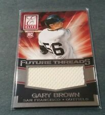 2015 Panini Elite Future Threads Game-Used Relic Gary Brown Rookie Card!