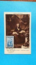 FRANCE CARTE MAXIMUM YVERT 595 COIFFE ILE DE FRANCE 1F50 +4F PROVINS 1943