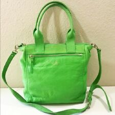 KATE SPADE CONVERTIBLE SATCHEL Green Leather Bag Messenger Shoulder Tote Purse