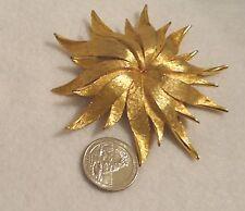 Brooch Hattie Carnegie Sunburst Rare find Gold tone