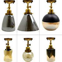MODERN CEILING PENDANT LIGHT GLASS SHADES ADJUSTABLE VINTAGE LAMP CHANDELIER