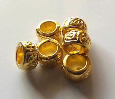 100pcs 7x4mm Metal Alloy Rondelle Spacer Beads - Bright Gold