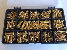 Brass Slotted Pan Head Screws Metric M3, M4, M5, M6 Assorted Kit Box 225 pcs