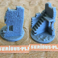 Ruined Town - Resin Hero Base - Wargames Warhammer 40K AoS Bolt Action KoW