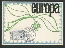 FRANCE MK 1965 EUROPA CEPT MULHOUSE MAXIMUMKARTE CARTE MAXIMUM CARD MC CM d5312