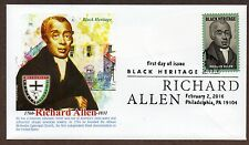 2016 RICHARD ALLEN ~ PANDA CACHET - FIRST DAY COVER ~ BLACK HERITAGE SERIES