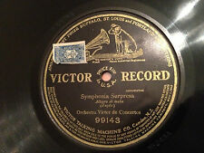 "VICTOR CONCERT ORCHESTRA ""Symphonia Surpresa"" (Haydn) 1913 SINGLE SIDED 78 12"""