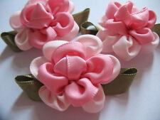 10 Large Fancy Satin 2 Tone Flower-Pink R006-1