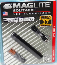 MAGLITE SOLITAIRE LED KEYCHAIN FLASHLIGHT SJ3A016 & AAA BATTERY 37 LUMENS TORCH