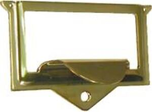 DISCONTINUED--FILE CABINET HARDWARE  STAMPED  BRASS CARD HOLDER  B3148