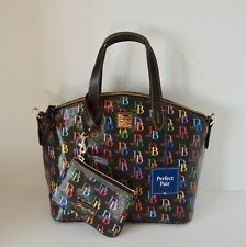 Dooney & Bourke Db75 Multi Satchel Handbag Medium Matching Wristlet