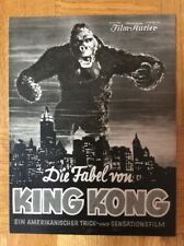 Fabel von King Kong (BFK 2042, 1933) - Fax Wray / Robert Armstrong / Horror