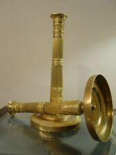 Paire de flambeaux bougeoirs bronze doré époque Empire XIXéme.